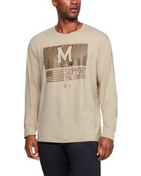 Under Armour - Men's Charged Cotton® Collegiate Long Sleeve Shirt - Lyst