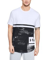 Under Armour - Heatgear Sportstyle Loose Charged Cotton Short-sleeve Print Tee - Lyst