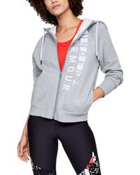 Under Armour - Women's Rival Fleece Full Zip Hoodie - Lyst