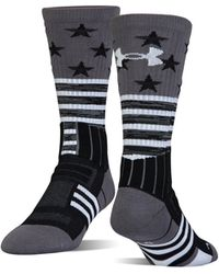 Under Armour - Men's Ua Unrivaled Stars & Stripes Crew Socks - Lyst