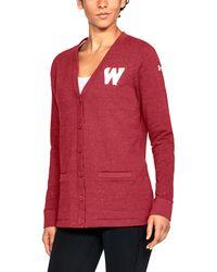 Under Armour - Women's Wisconsin Ua Iconic Cardigan - Lyst