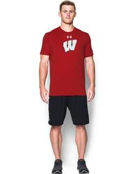 Under Armour - Men's Wisconsin Charged Cotton® T-shirt - Lyst