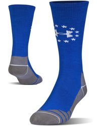 Under Armour - Men's Ua Hitch Lite Freedom Boot Socks - Lyst