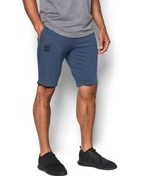 Under Armour - Men's Ua Sportstyle Terry Tapered Shorts - Lyst
