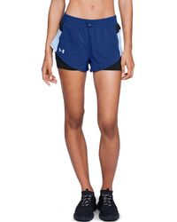 Under Armour - Women's Stretch Woven 2-in-1 Run Shorts - Lyst