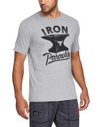 Under Armour - Men's Ua X Project Rock Iron Paradise Short Sleeve T-shirt - Lyst