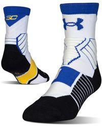 Under Armour - Men's Ua Drive Sc30 Mid Crew Basketball Socks - Lyst