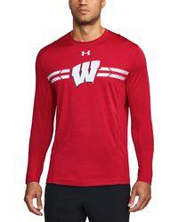 Under Armour - Men's Wisconsin Long Sleeve Training T-shirt - Lyst
