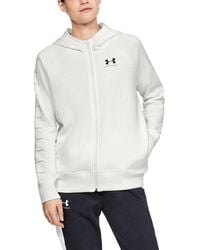 Under Armour Rival Fleece Sportstyle Lc Sleeve Graphic - White