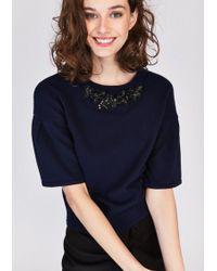 Tara Jarmon - Adorned Sweater - Lyst