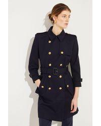 Givenchy - Baumwoll-Trenchcoat mit Logo-Knöpfe Blau 100% Baumwolle Futter: - Lyst