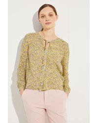 M.i.h Jeans - Seidenbluse 'Alma' mit floralem Print Gelb/Multi - Lyst
