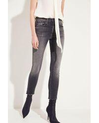 Rag & Bone - High Rise Skinny Jeans Grau - Lyst