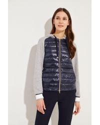 Herno - Sweatshirt mit Daunen-Element Blau/Grau - Lyst