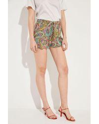 Etro - Seiden-Shorts mit Print Multi - Lyst