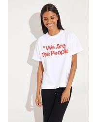 Sacai - T-Shirt 'We are the People' Weiß 100% Baumwolle Made in Japan Größen: 1 = 34 2 = 36 3 = 38 4 = 40 5 = 42 - Lyst