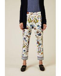 Tory Burch - Jeans 'Erica' mit floralem Print Multi - Lyst