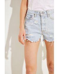 GRLFRND - Shorts 'Helena' Hellblau 100% Baumwolle Made in USA - Lyst