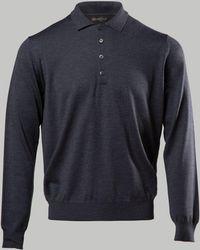 Corneliani - Long Sleeve Polo - Lyst