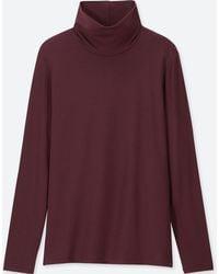 Uniqlo - Heattech Extra Warm Turtleneck Long Sleeved T-shirt - Lyst