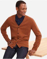 Uniqlo - Men Premium Lambswool V-neck Long-sleeve Cardigan - Lyst