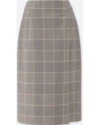 61fbf2e1b286fe Uniqlo Women Merino Blend Ribbed Skirt in Black - Lyst