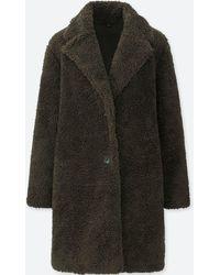 Uniqlo - Women Pile-lined Fleece Long-sleeve Tailored Coat - Lyst