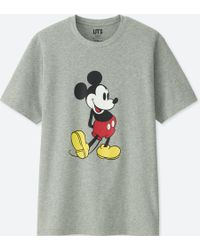 Uniqlo - Mickey Stands Short-sleeve Graphic T-shirt - Lyst