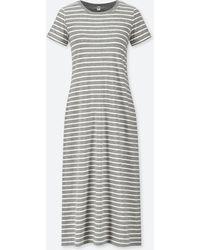 Uniqlo - Women Striped Short-sleeve Long Bra Dress - Lyst