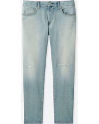 Uniqlo - Men Slim-fit Damaged Jeans - Lyst