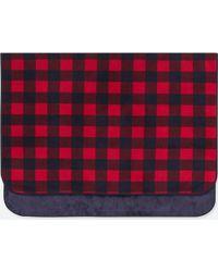 Uniqlo - Fleece Block Checked Large Blanket - Lyst