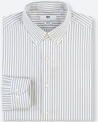 Uniqlo - Men Easy Care Striped Stretch Slim-fit Long-sleeve Shirt - Lyst