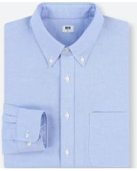 Uniqlo - Men Oxford Long-sleeve Shirt (online Exclusive) - Lyst