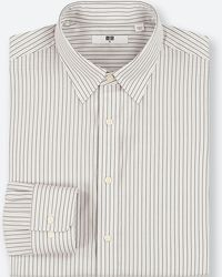 Uniqlo - Men Easy Care Striped Regular-fit Long-sleeve Shirt (online Exclusive) - Lyst