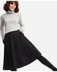 Uniqlo - Women Wool-blend High-waisted Flared Skirt - Lyst