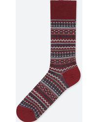 Uniqlo - Men Heattech Fair Isle Socks - Lyst