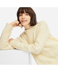 Uniqlo - Women Cable Long Sweater - Lyst