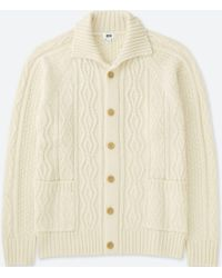 Uniqlo - Men Cable Knit Long-sleeve Cardigan - Lyst
