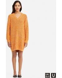 Uniqlo - Women U Colour Mixed Oversize Long-sleeve Dress - Lyst
