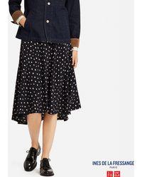 Uniqlo - Women Georgette Printed Skirt (ines De La Fressange) - Lyst