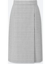 28e8746f40 Lyst - Uniqlo Women Pile-lined Sweat Skirt in Gray