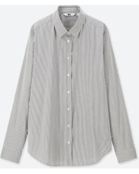 Uniqlo - Women Supima® Cotton Stretch Striped Long-sleeve Shirt - Lyst