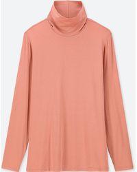 20202347 Lyst - Uniqlo Women Heattech Turtleneck Long-sleeve T-shirt in Gray