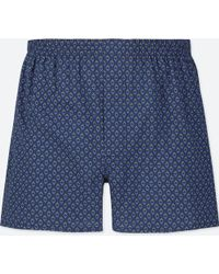 Uniqlo - Woven Printed Boxer Shorts - Lyst
