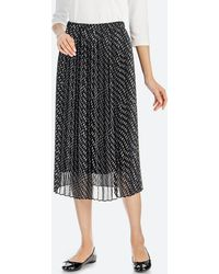 Uniqlo - Women High-waist Chiffon Pleated Skirt - Lyst