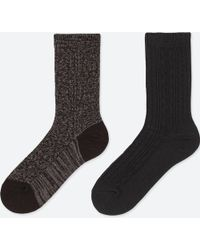 Uniqlo - Women Heattech Cable Socks (2 Pairs) - Lyst