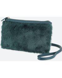 Uniqlo - Faux Shearling Shoulder Bag - Lyst