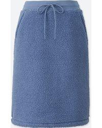 d02c58c321 Uniqlo - Women Blocktech Fleece Pile-lined Skirt - Lyst