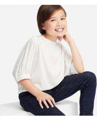 Uniqlo - Girls Drape Dolman Half-sleeve T-shirt - Lyst