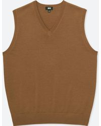 Uniqlo - Men Extra Fine Merino V-neck Vest - Lyst